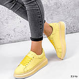 Кроссовки женские Macis желтые 3196, фото 10