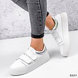 Кросівки жіночі Lena білі + срібло 3229, фото 2