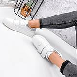 Кросівки жіночі Lena білі + срібло 3229, фото 3