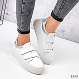 Кросівки жіночі Lena білі + срібло 3229, фото 4