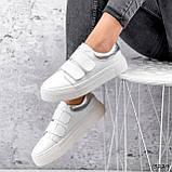 Кросівки жіночі Lena білі + срібло 3229, фото 5
