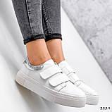 Кросівки жіночі Lena білі + срібло 3229, фото 6