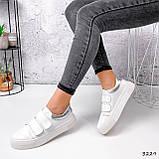 Кросівки жіночі Lena білі + срібло 3229, фото 7