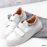 Кросівки жіночі Lena білі + срібло 3229, фото 8