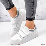 Кросівки жіночі Lena білі + срібло 3229, фото 9