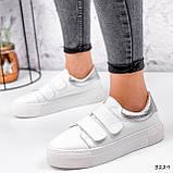 Кросівки жіночі Lena білі + срібло 3229, фото 10