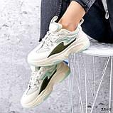 Кроссовки женские Quela беж + хаки + мята 3268, фото 10