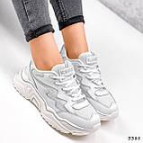 Кросівки жіночі Mina білий 3388, фото 9
