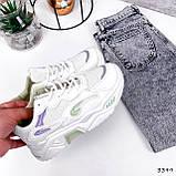 Кроссовки женские Lindita белые + мята + фиолетовый 3399, фото 5