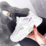 Кроссовки женские Lindita белые + мята + фиолетовый 3399, фото 7