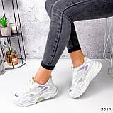 Кроссовки женские Lindita белые + мята + фиолетовый 3399, фото 9