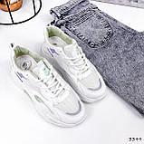 Кроссовки женские Lindita белые + мята + фиолетовый 3399, фото 10