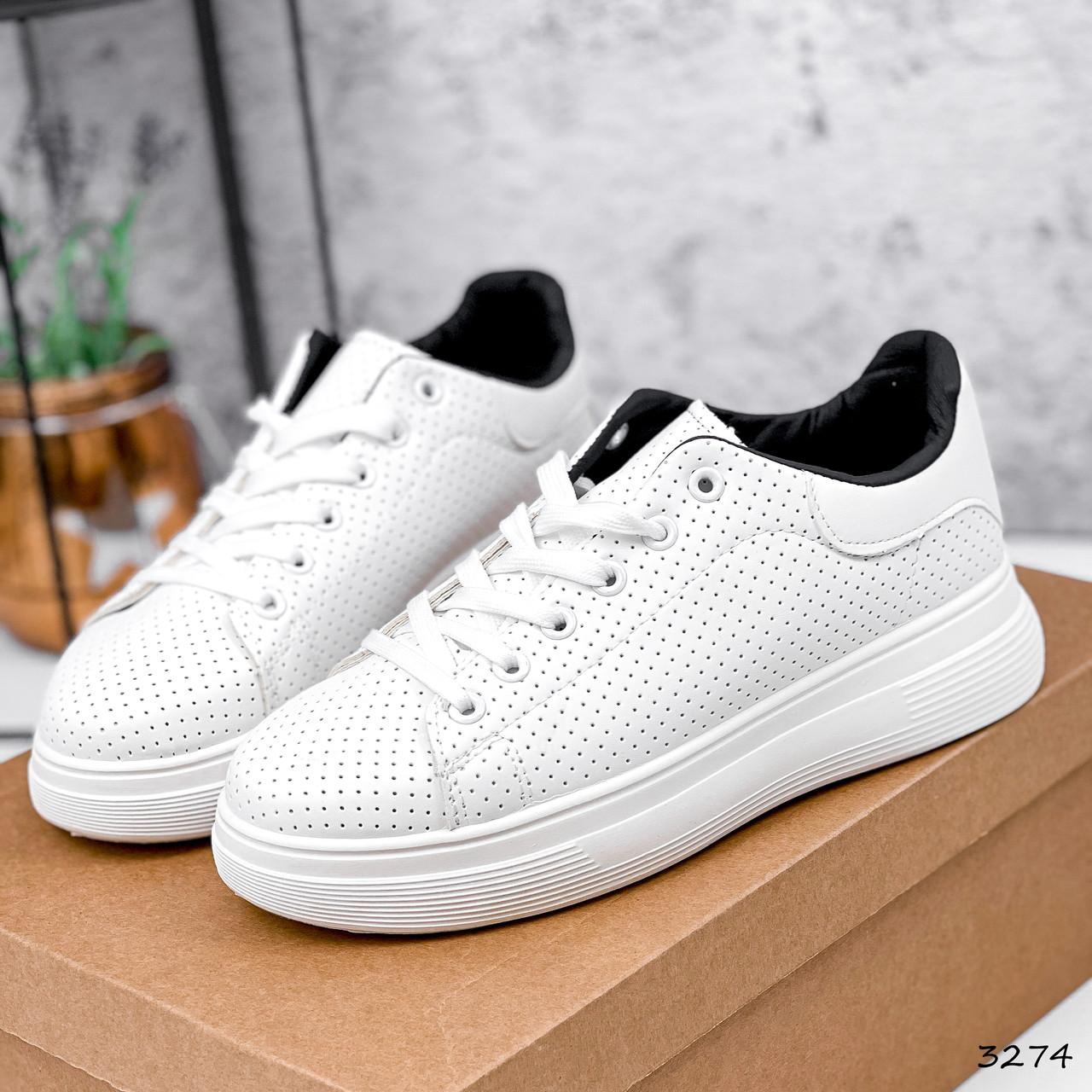 Кроссовки женские Tiago белые + черные 3274