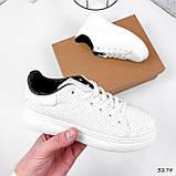 Кроссовки женские Tiago белые + черные 3274, фото 3
