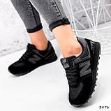 Кроссовки женские New Balance черные 3476, фото 2