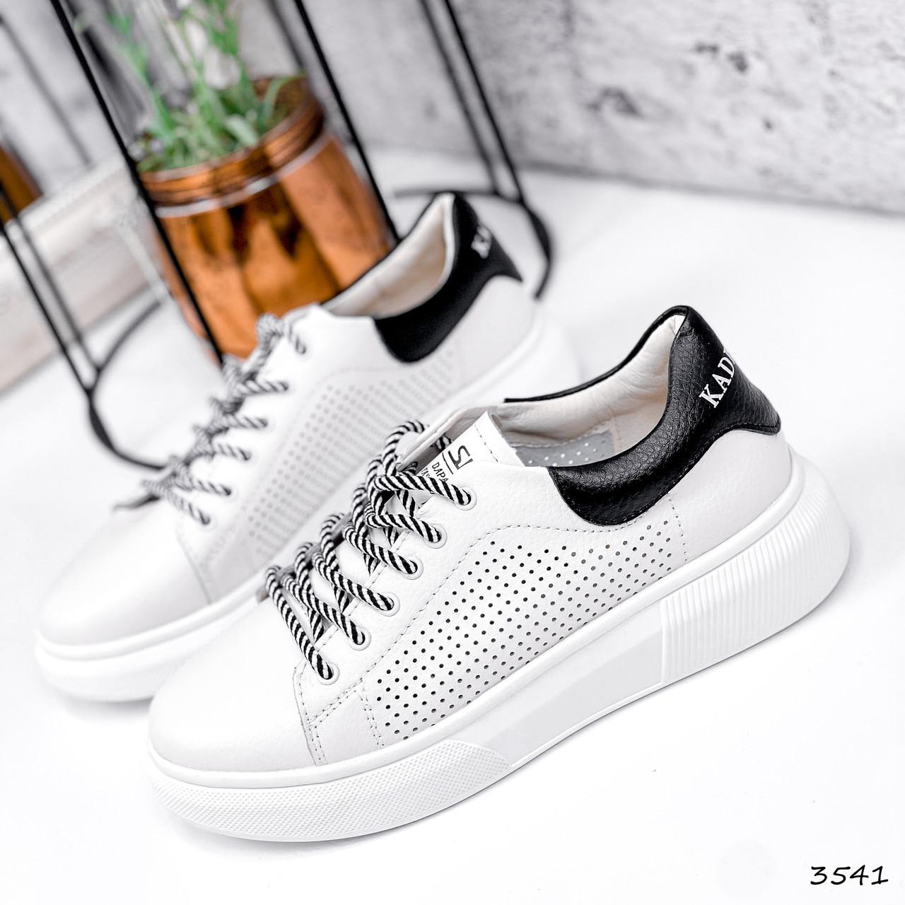 Кросівки жіночі Arait білі + чорний 3541