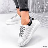 Кросівки жіночі Arait білі + чорний 3541, фото 3