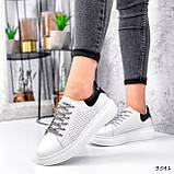 Кросівки жіночі Arait білі + чорний 3541, фото 4