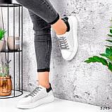 Кросівки жіночі Arait білі + чорний 3541, фото 7