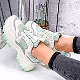 Кросівки жіночі Simar беж + світло м'ятний 3561, фото 4