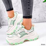 Кросівки жіночі Simar беж + світло м'ятний 3561, фото 8