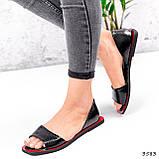 Босоножки женские Carla черные + красный 3583, фото 3