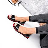 Босоножки женские Carla черные + красный 3583, фото 4