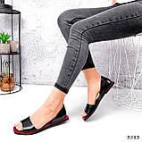 Босоножки женские Carla черные + красный 3583, фото 6