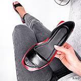 Босоножки женские Carla черные + красный 3583, фото 8