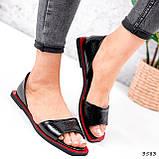 Босоножки женские Carla черные + красный 3583, фото 9