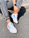 Кроссовки женские в стиле Puma белые + голография 4319, фото 2