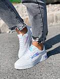 Кроссовки женские в стиле Puma белые + голография 4319, фото 3