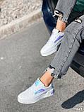 Кроссовки женские в стиле Puma белые + голография 4319, фото 4