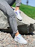 Кроссовки женские в стиле Puma белые + голография 4319, фото 5