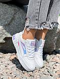 Кроссовки женские в стиле Puma белые + голография 4319, фото 7