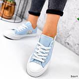 Кеды женские All голубые 3669, фото 4