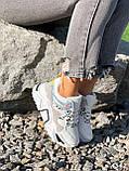 Кроссовки женские Marlis белые + серый + черный + голографик 4342, фото 10
