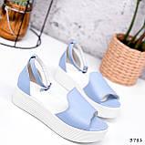 Босоножки женские Monika голубые 3781, фото 2