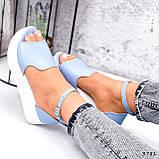 Босоножки женские Monika голубые 3781, фото 3
