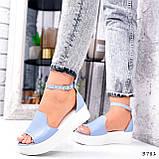 Босоножки женские Monika голубые 3781, фото 5