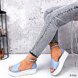 Босоножки женские Monika голубые 3781, фото 10