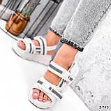Босоніжки жіночі Jerry білі 3791, фото 3