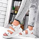 Босоніжки жіночі Sportik білі 3807, фото 9