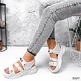 Босоніжки жіночі Sportik білі 3807, фото 10