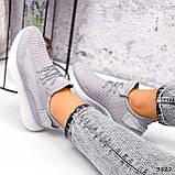 Кросівки жіночі Adis сірі + рожеві 3822, фото 2