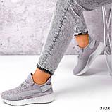 Кросівки жіночі Adis сірі + рожеві 3822, фото 3