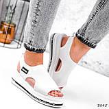 Босоніжки жіночі Sport білі 3845, фото 5