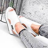 Босоніжки жіночі Sport білі 3845, фото 8