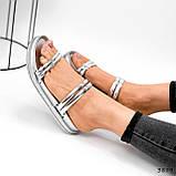 Шлепки женские Jessica серебро 3879, фото 2