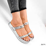 Шлепки женские Jessica серебро 3879, фото 4